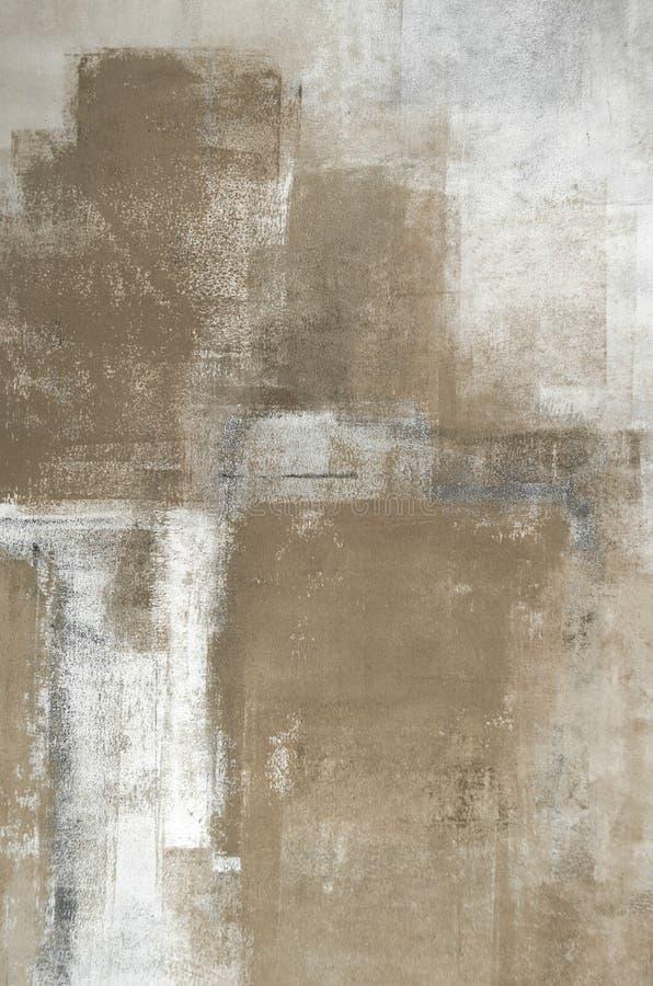 Art Painting abstrato neutro ilustração royalty free