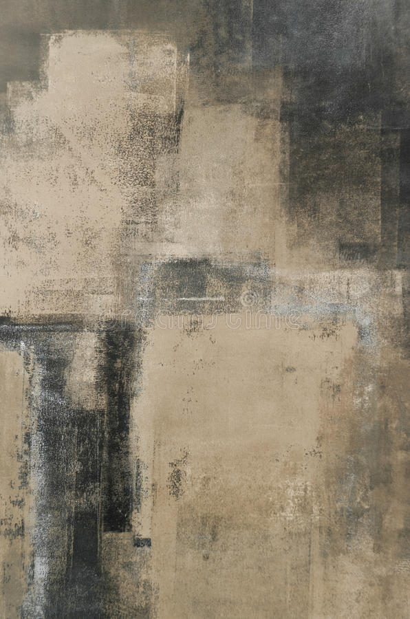 Art Painting abstrato neutro ilustração stock