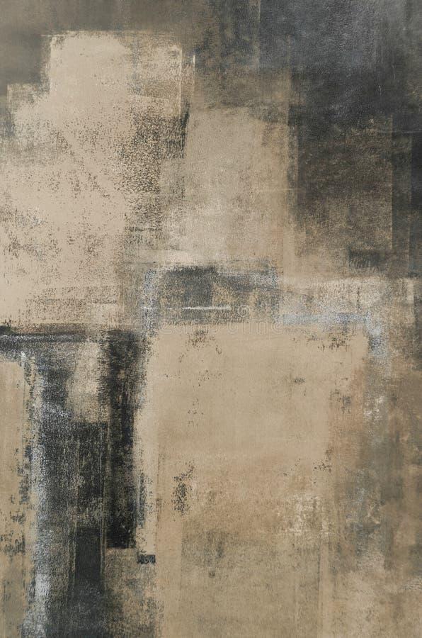 Art Painting astratto neutrale illustrazione di stock