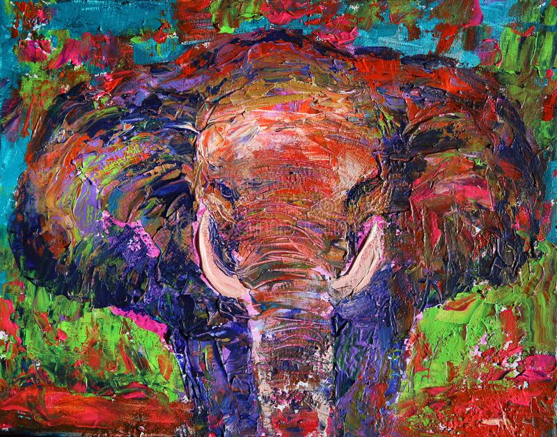 Art painting of the elephant royalty free stock image