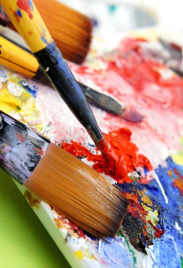 Download Art palette stock photo. Image of education, design, easel - 26507368