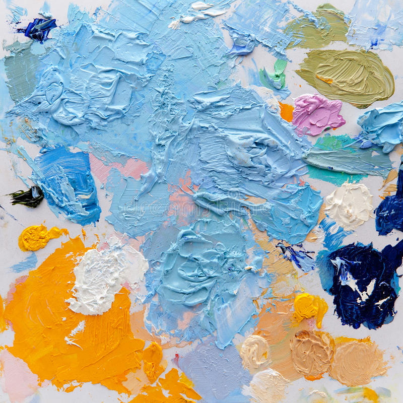 Art palette stock image