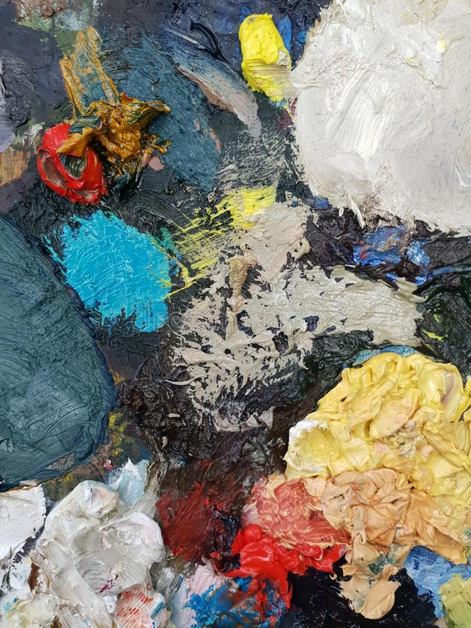 Art palettes combining different colors and colors. Choosing the right color for the perfect picture stock images