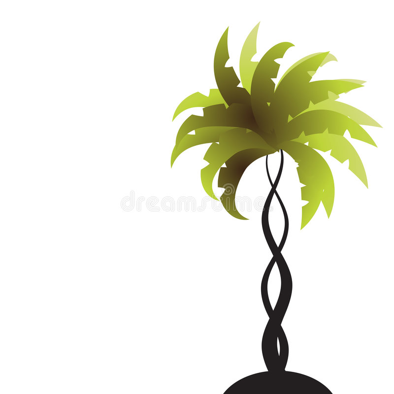 Art palm tree green