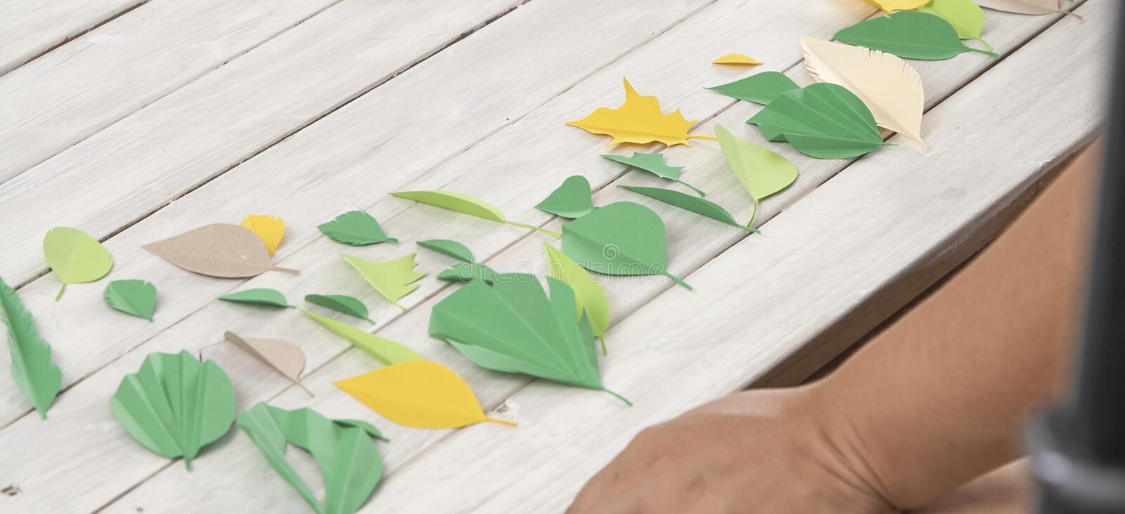 Art paper cut trendy craft style royalty free stock images