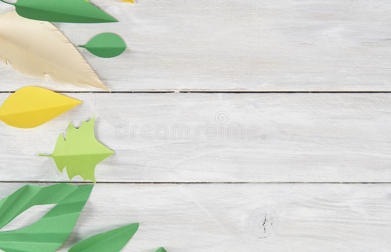 Art paper cut trendy craft style royalty free stock photo