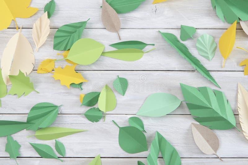 Art paper cut trendy craft style stock photo