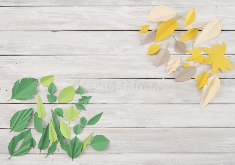 Art paper cut trendy craft style stock image