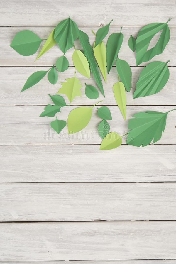 Art paper cut trendy craft style stock photography