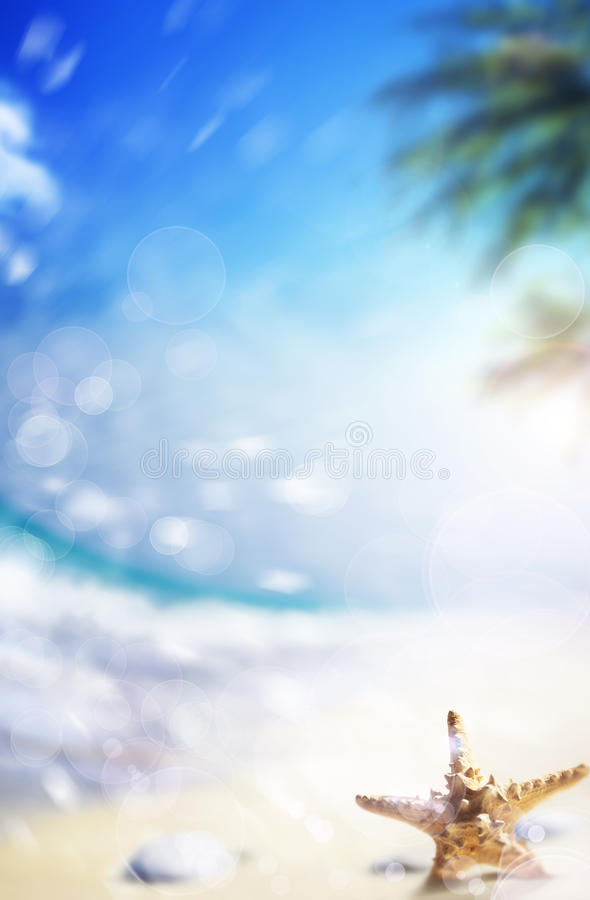 Art Paradise Beach background stock photography