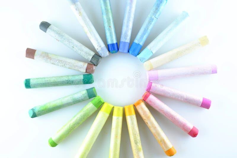 Art pastel palette royalty free stock image