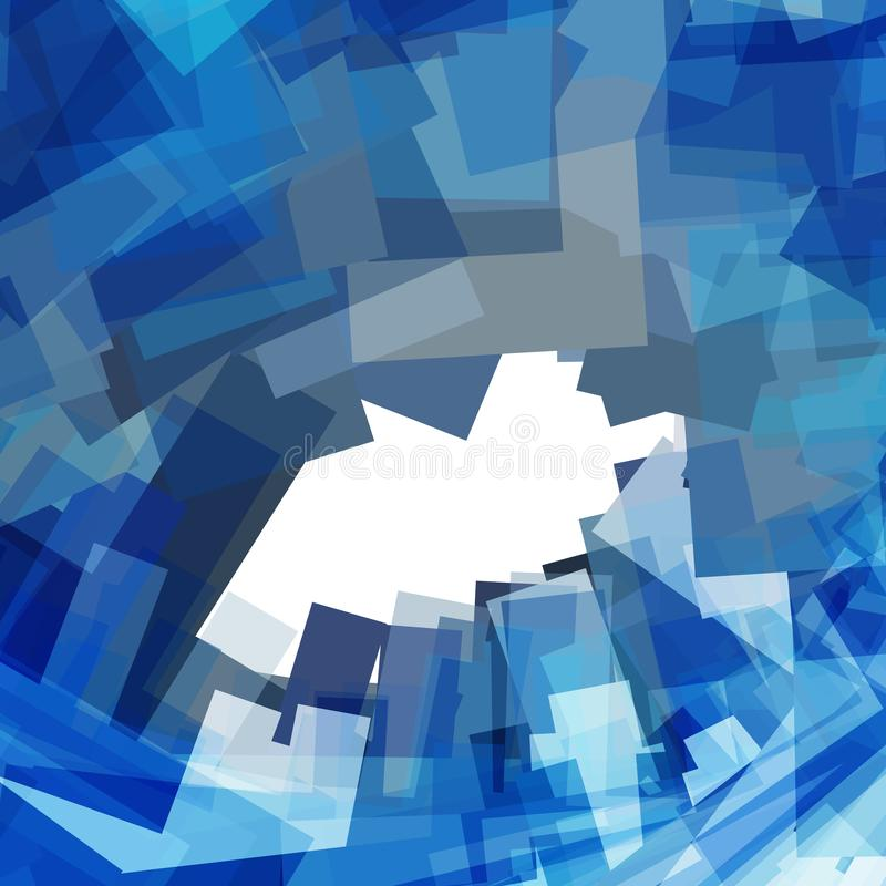 Art pattern with blue abstraction. Creative urban design vector illustration