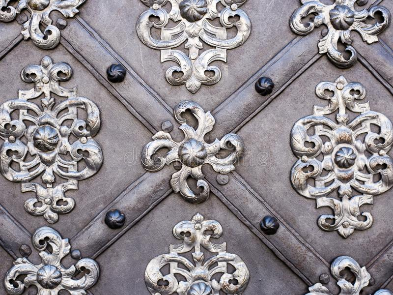 The art and pattern of carving silverware, Metal ornament stock images