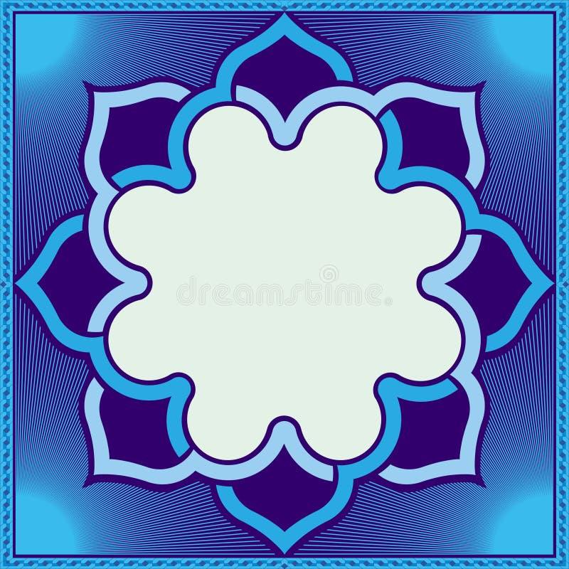 Art Pattern symétrique dans le bleu illustration stock