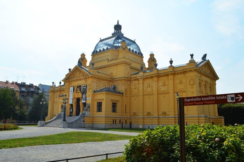 Art Pavilion sur Zagreb Croatia photo stock