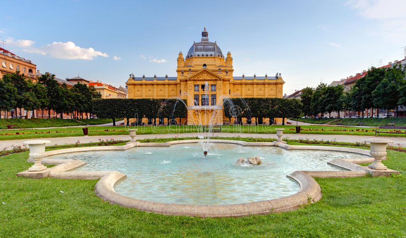 Art pavillion in Zagreb. Croatia stock photo