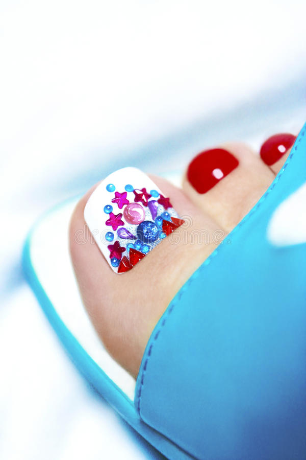 Art pedicure. royalty free stock image