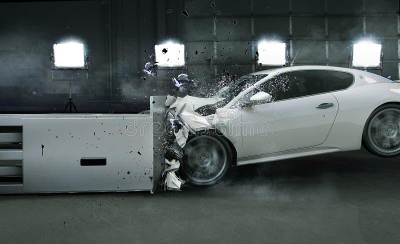 Art photo of crashed car stock image