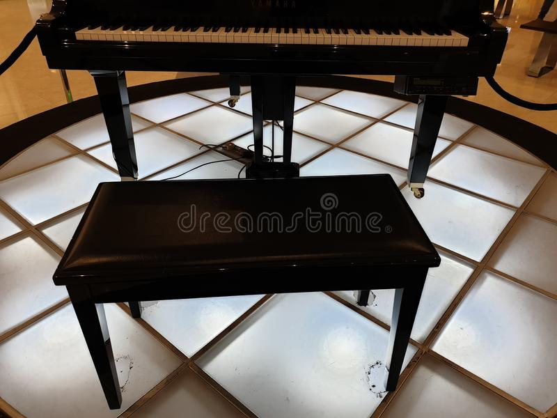 The art of piano exhibition. Art piano exhibition music happiness background pattern design decoration royalty free stock photos