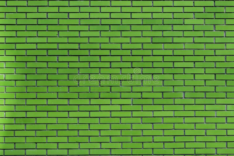 Green brick wall abstracted. Art picture of Green brick wall abstracted royalty free stock images