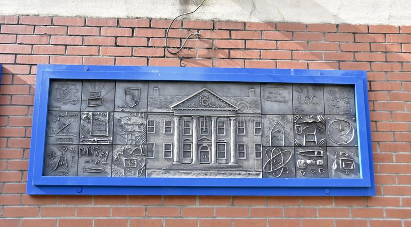 Art Plate en Gaston Park Library, Memphis, TN imagen de archivo