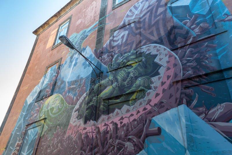 Art On Porto Street urbain image stock