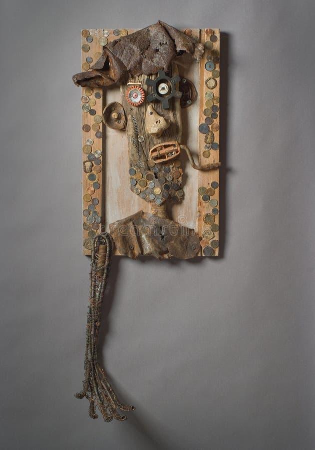 Art Portrait réutilisé d'un mendiant photographie stock libre de droits