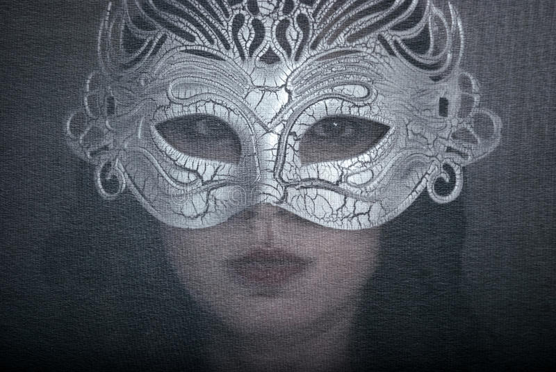 Download Art portrait woman in mask stock photo. Image of glamour - 22934182