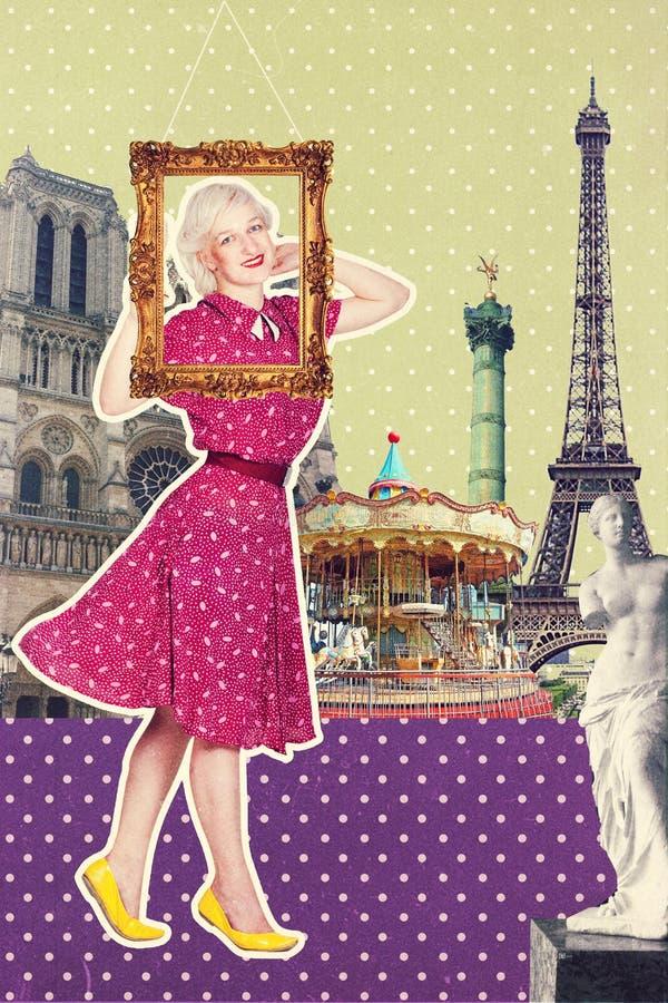 Art postcard, vintage style stock images