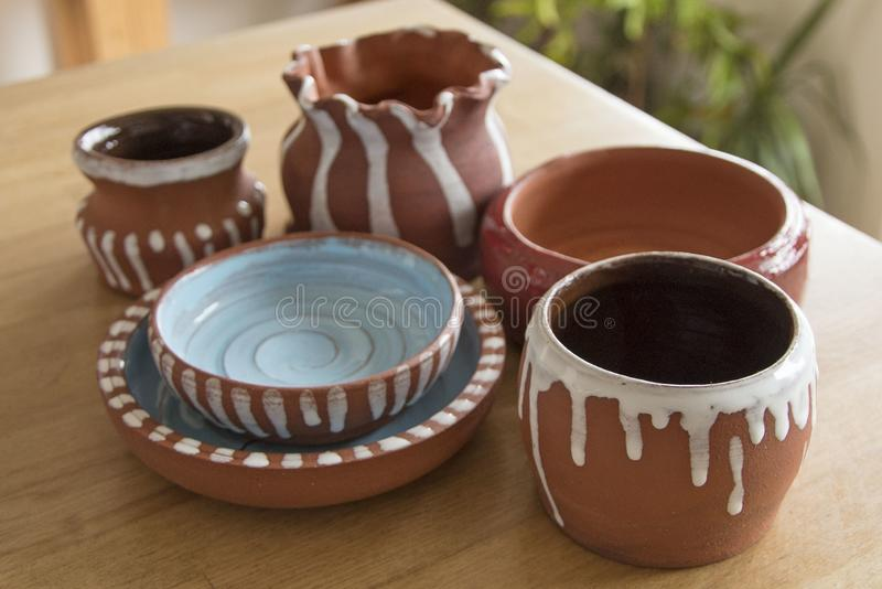 Art pottery stock photo