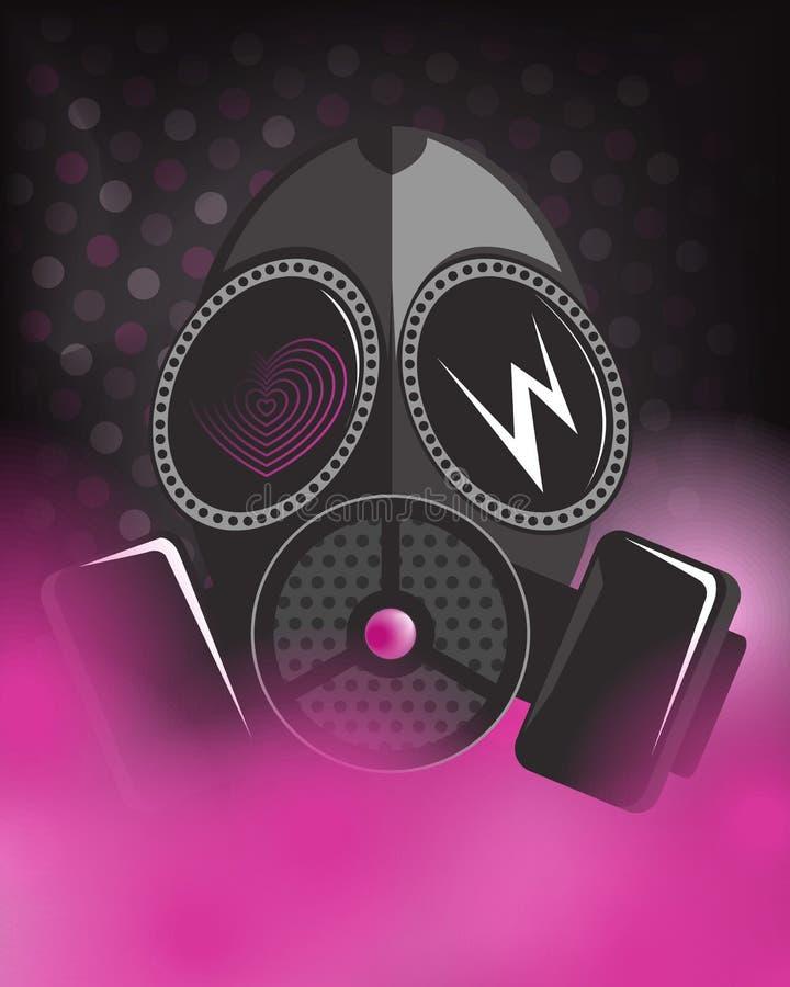 Art punk de masque toxique rose - vecteur illustration stock