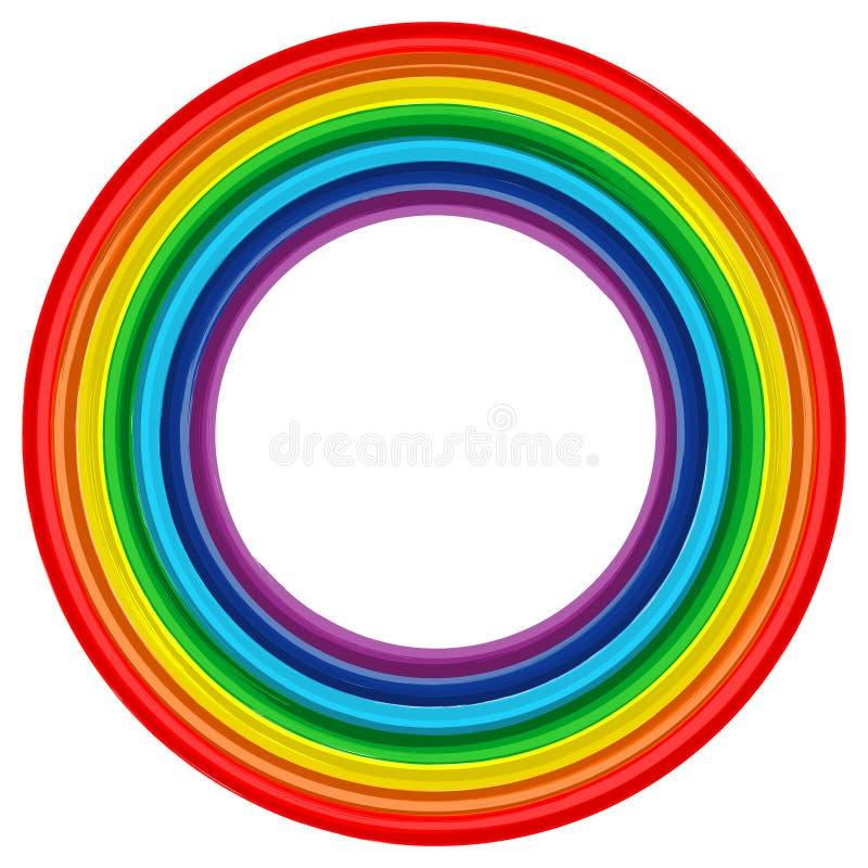 Free Art Rainbow Frame Abstract Vector Background 2 Stock Photos - 27243393