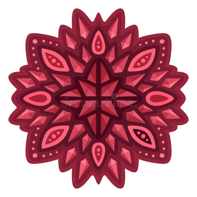 Art with red abstract single pattern with rubies. Beautiful isolated red abstract single pattern with rubies royalty free illustration