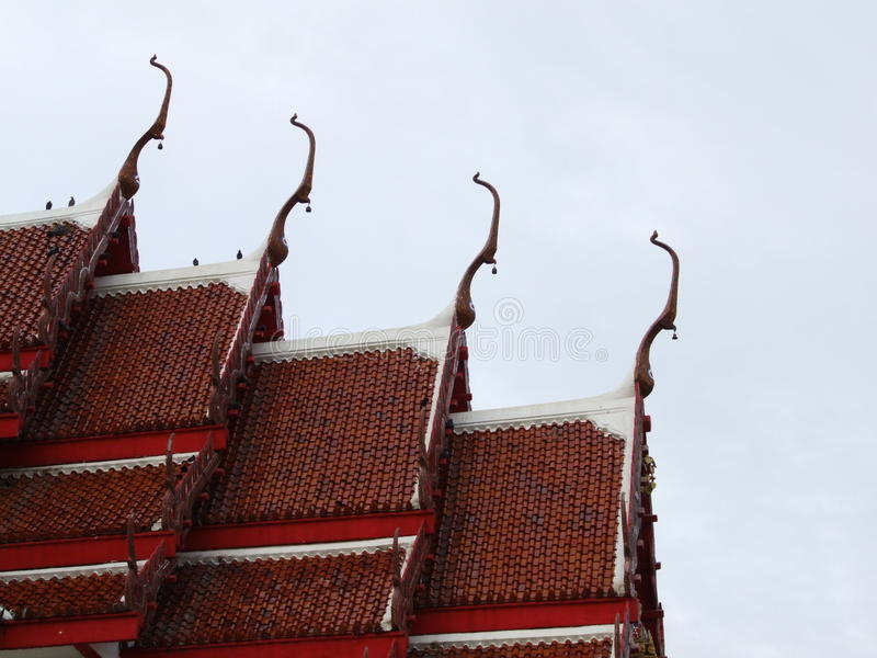 Art red roof buddha temples royalty free stock images