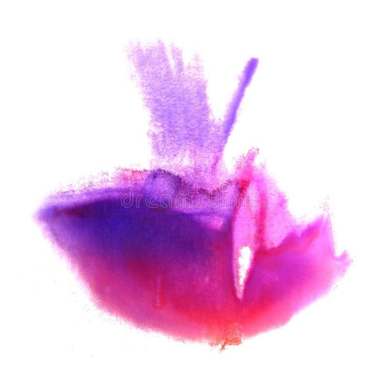 Art Red rosa färg, violett klick för vattenfärgfärgpulvermålarfärg royaltyfria foton