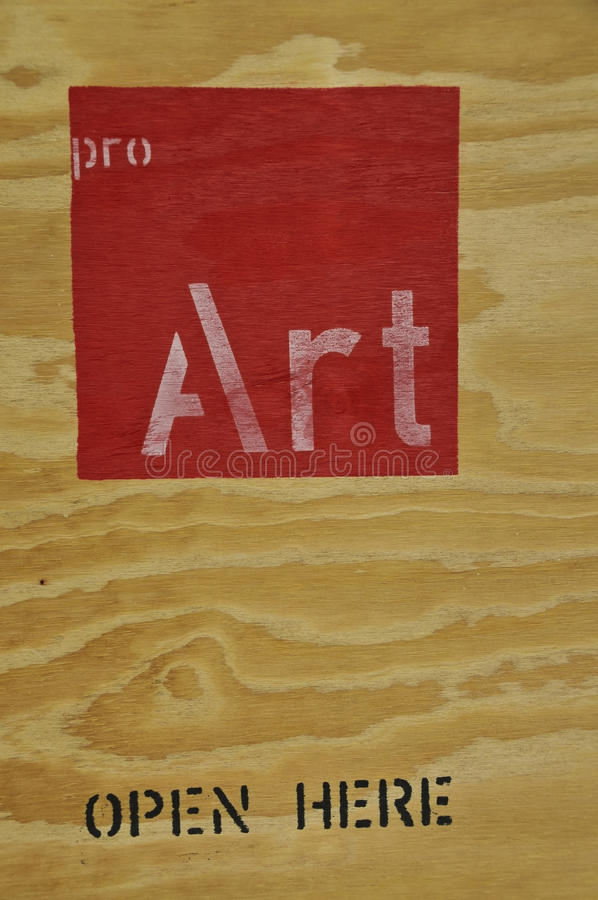 Art stamp on wooden surface stock photography