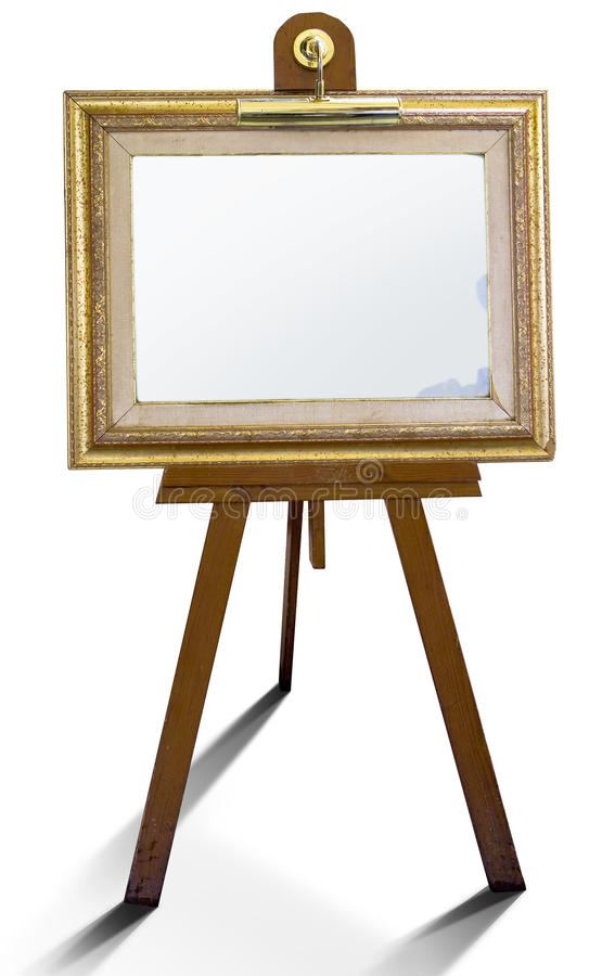 Art report in frame royalty free stock images