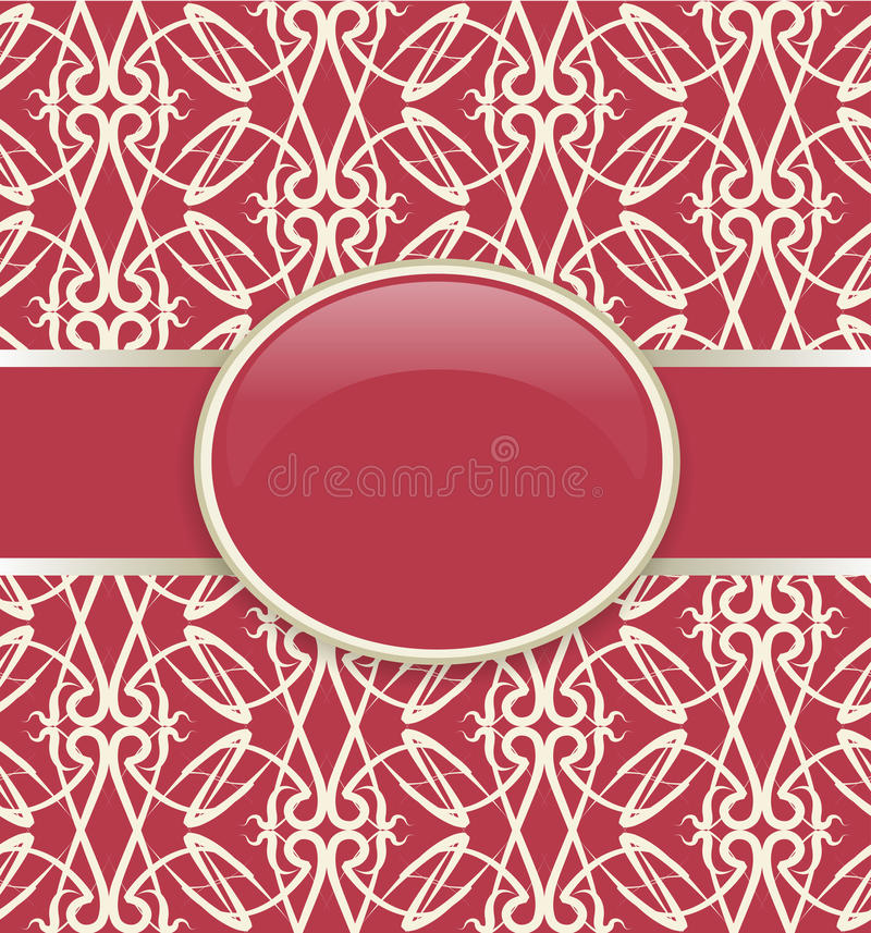 Download Art retro red ornate cover stock vector. Image of classical - 21643590