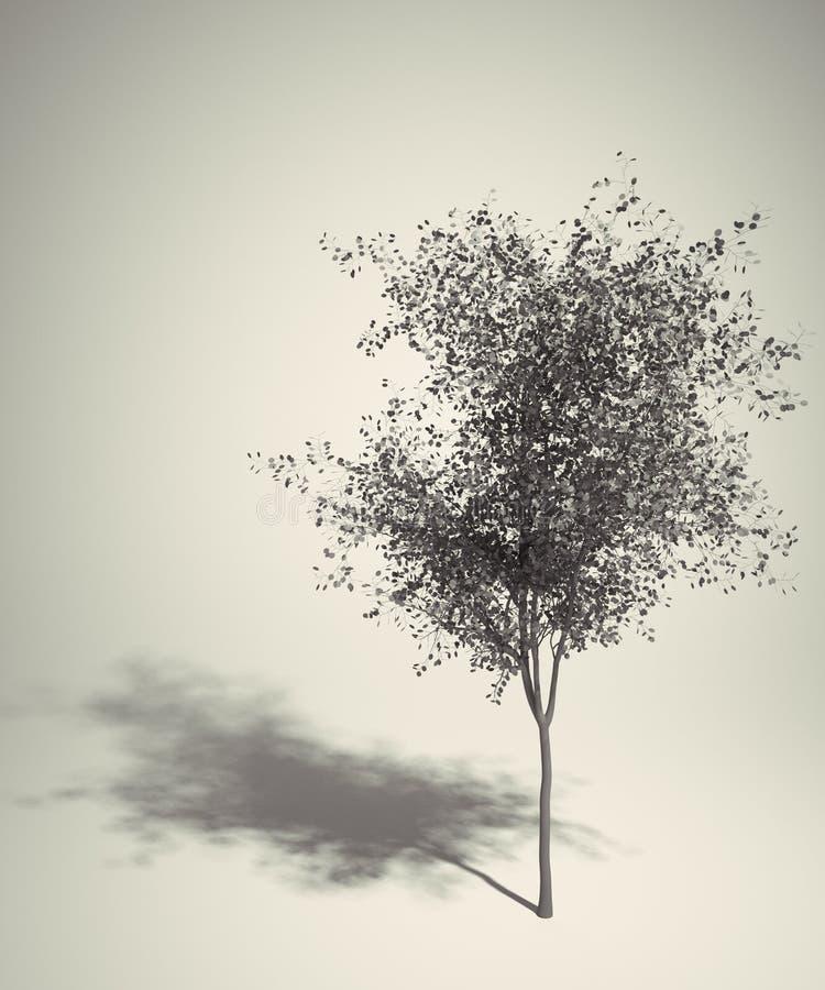 Art Retro tree royalty free illustration