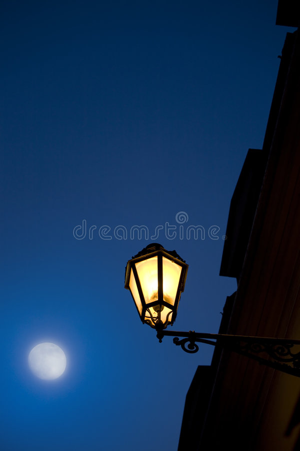 Art Romantic evening in Rome. Romantic evening in old city royalty free stock images
