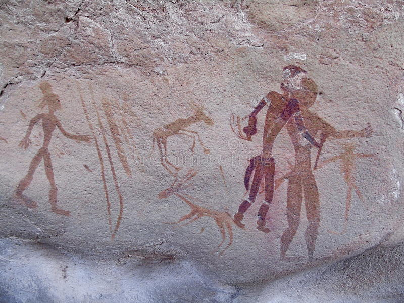 Art saharien de roche photo libre de droits