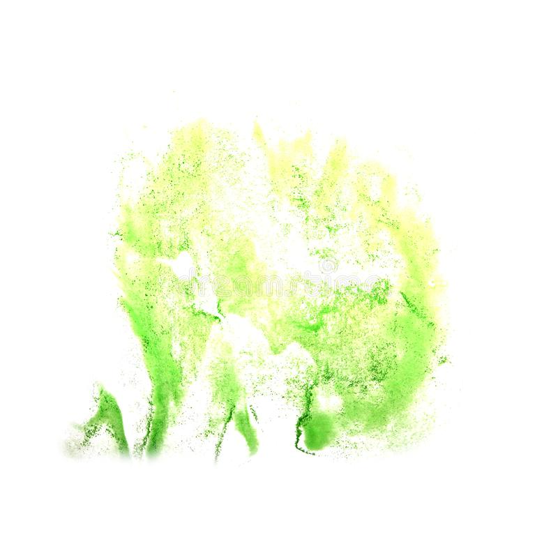 Art The salad watercolor ink paint blob watercolour splash colo. Rful stain isolated on white background royalty free stock photos