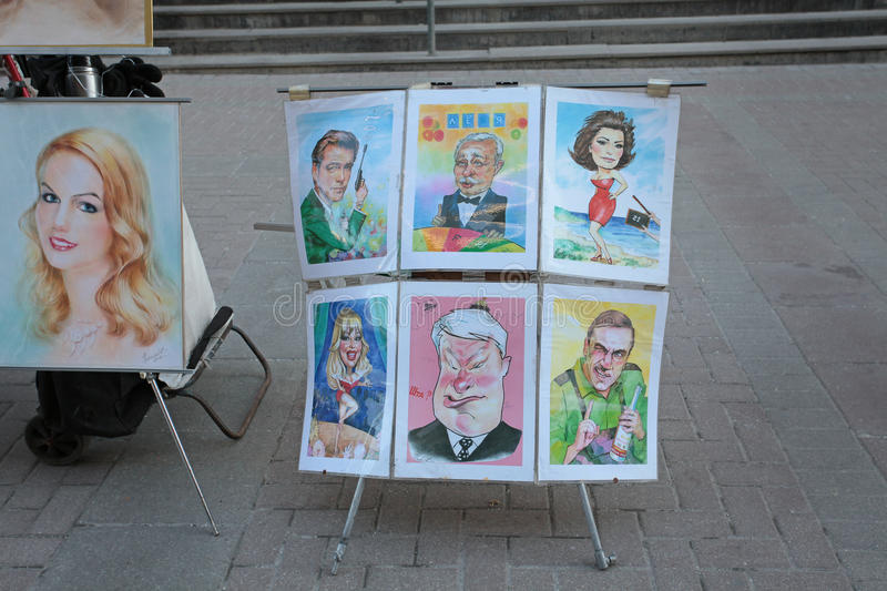 Art scetches in Arbat street, Moscow