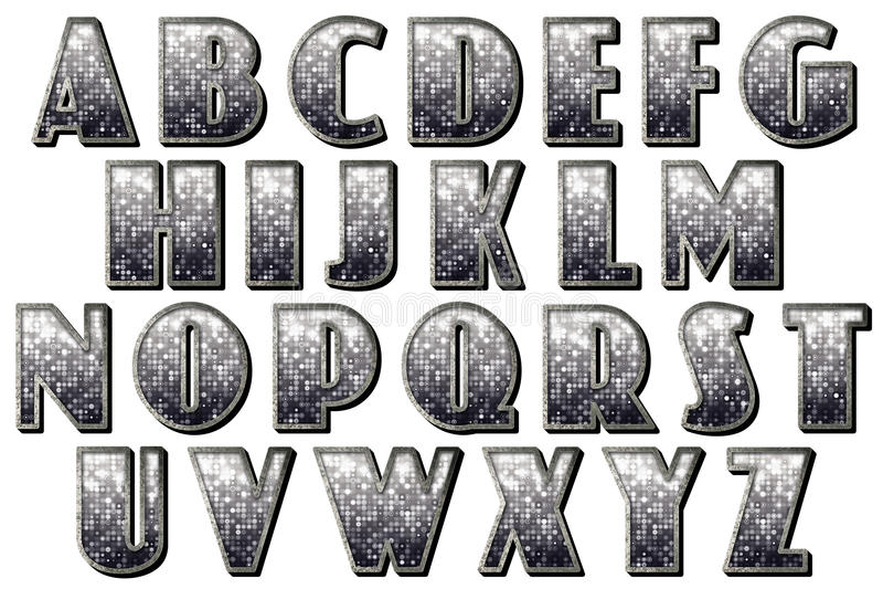 Art Scrapbooking-Element Digital-Alphabet-30s Capone lizenzfreie abbildung
