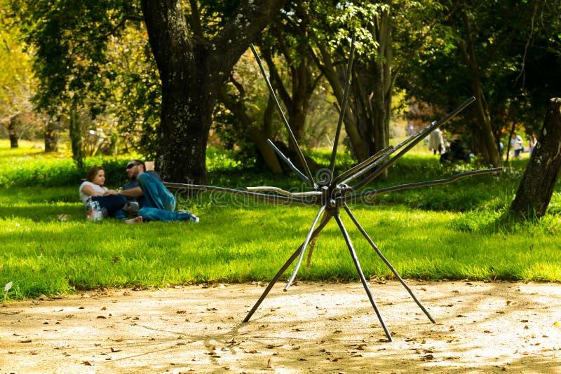 Art Sculpture Exhibition exterior no parque de Nirox imagens de stock