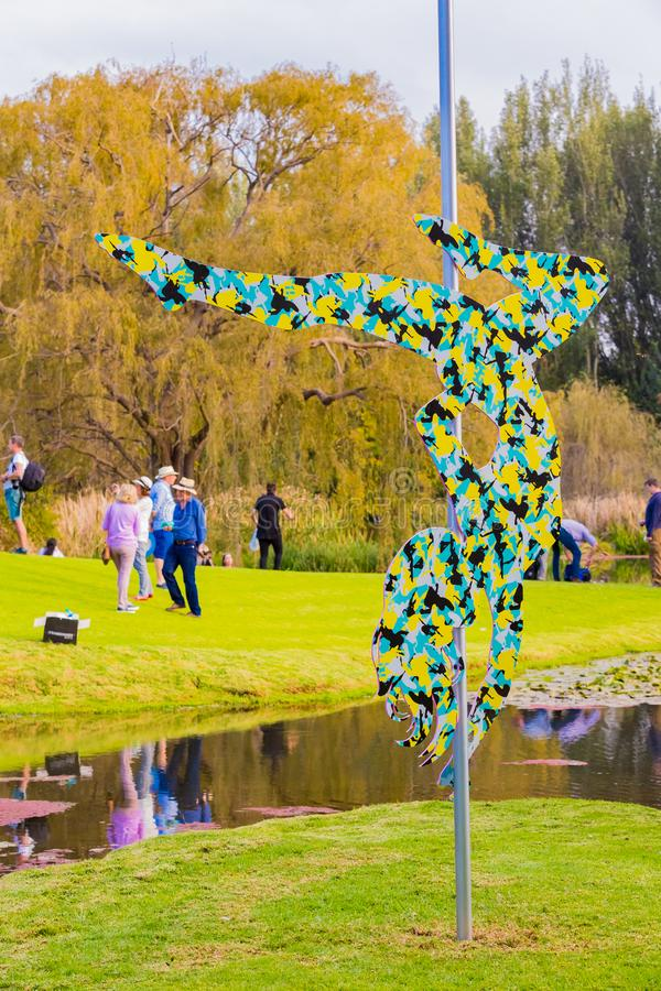 Art Sculpture Exhibition exterior no parque de Nirox fotografia de stock royalty free
