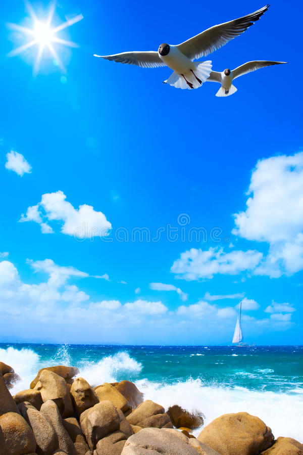 Art sea background stock photography