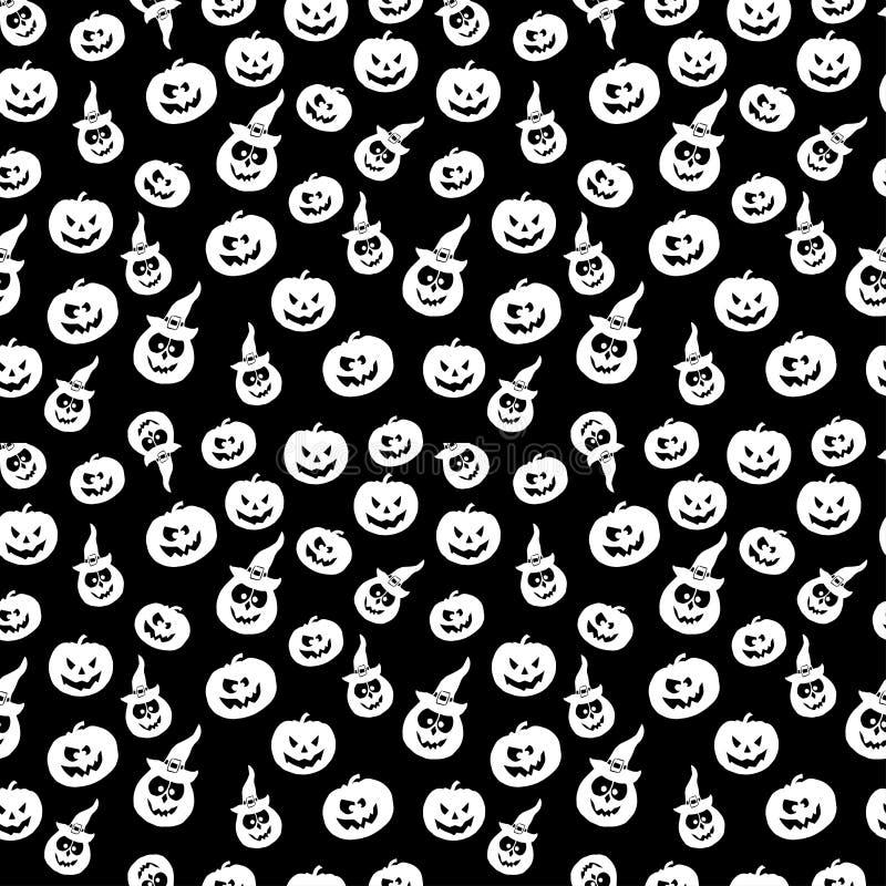 Art seamless pattern for Happy Halloween background. Design temp stock illustration