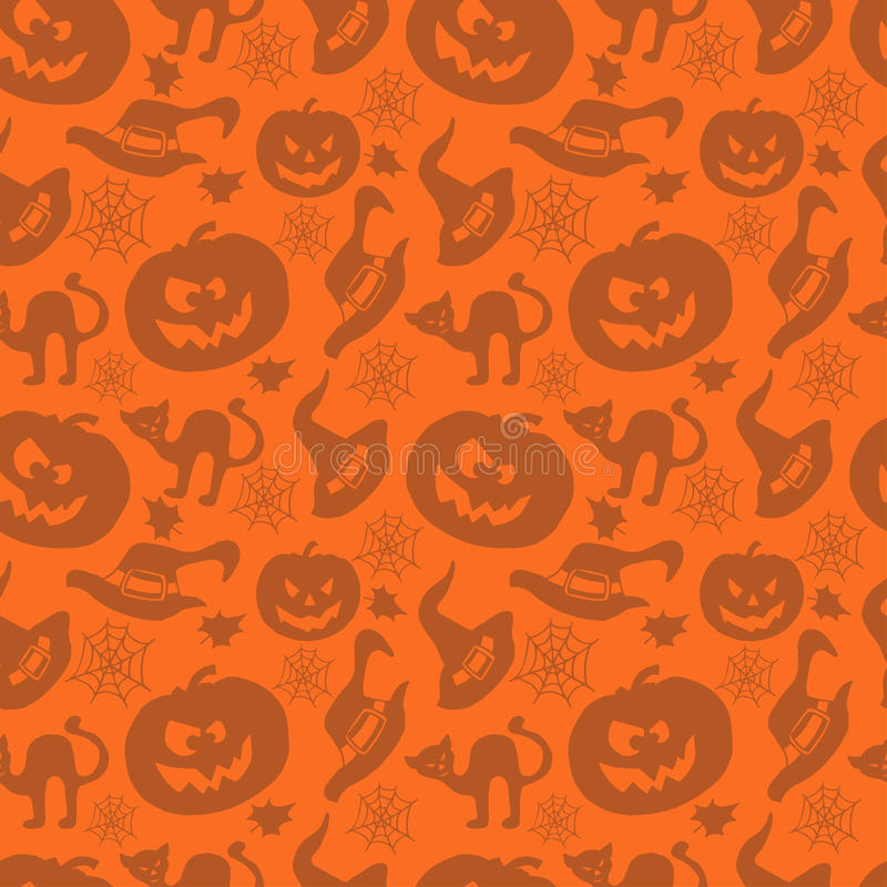 Art seamless pattern for Happy Halloween. Background. Design template for flyers, posters,ecards, invitations, brochures,etc. Creative style. Vector royalty free illustration
