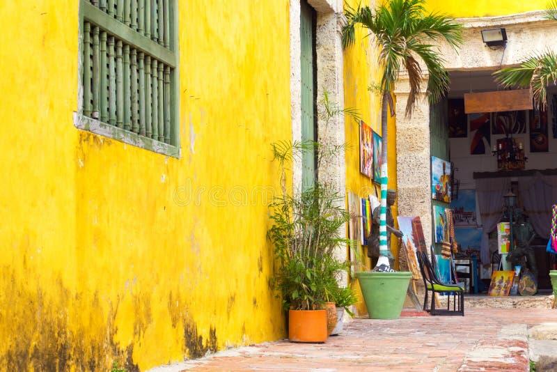 Art Shop en Cartagena imagen de archivo
